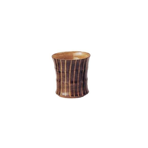 焼酎カップフリーカップ十草(茶)美濃焼業務用食器