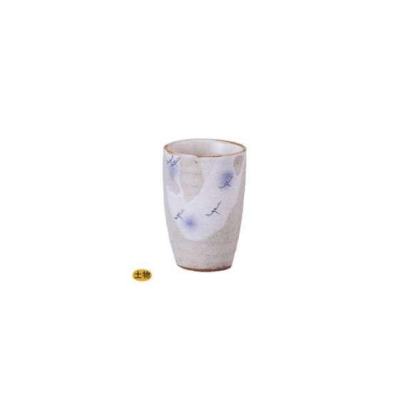 ビールカップフリーカップとんぼ(ブルー)310cc美濃焼業務用食器