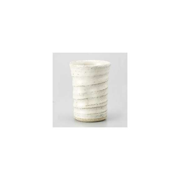陶器フリーカップ白萩260cc業務用酒器美濃焼