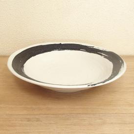 そば皿 麺皿 白海流 業務用 和食器 美濃焼