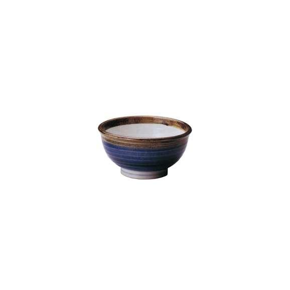 丼うどん・そば・海鮮渕錆呉須巻高浜6.0丼青陶器美濃焼業務用食器