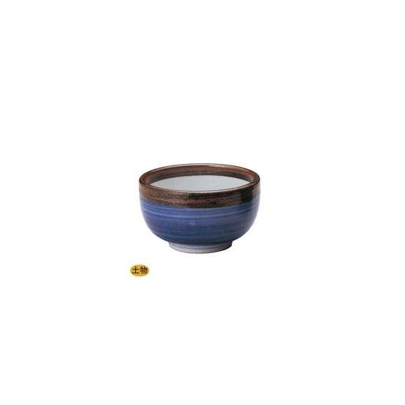 丼うどん・そば・海鮮渕錆呉須巻腰張5.5丼青陶器美濃焼業務用食器