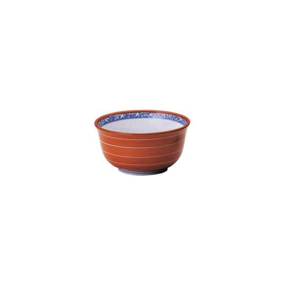 丼うどん・そば・海鮮赤巻白線反5.5丼陶器美濃焼業務用食器
