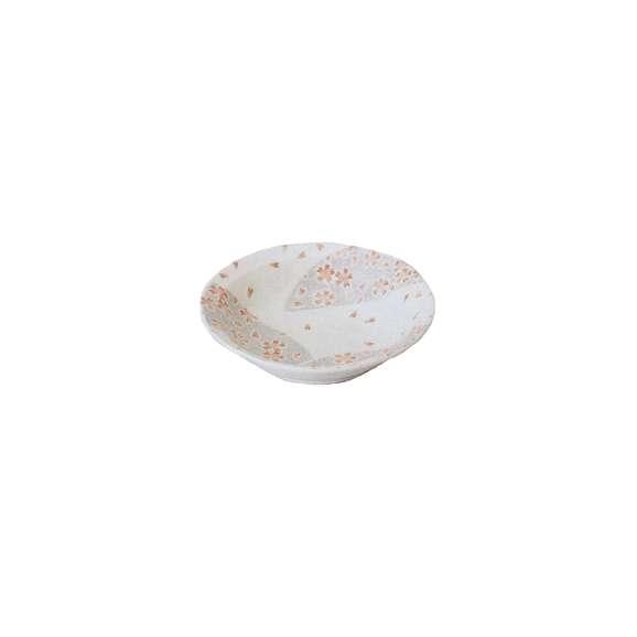 ボール銀彩華ピンク4.0フルーツ白煮物鉢陶器美濃焼業務用食器