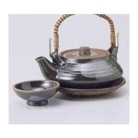 土瓶蒸し セット 平形 織部 器 業務用食器 和食器