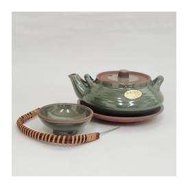 土瓶蒸し セット 平形 グリーン 器 業務用食器 和食器
