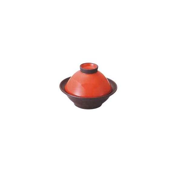 タジン鍋レッド/ブラック(23.4cm)カラー電子レンジ直火可美濃焼