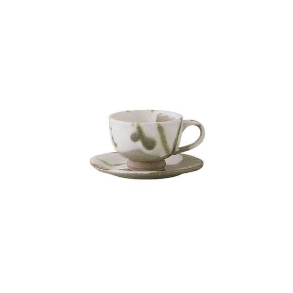 コーヒーカップソーサー織部流し【箱入り】ギフト内祝い引出物結婚祝い美濃焼