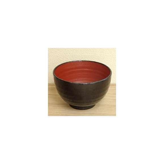 丼うどん・そば・煮物赤と黒夏目5.0丼深口鉢陶器美濃焼業務用食器