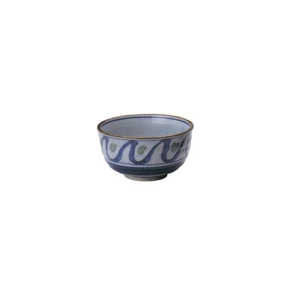 丼うどん・そば・煮物清海5.5腰張丼青鉢陶器美濃焼業務用食器