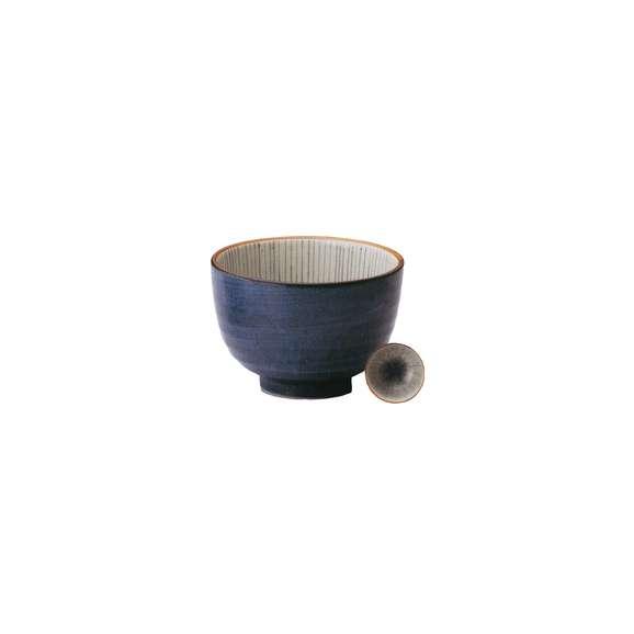 丼うどん・そば・煮物クリーム細十草4.8夏目丼青鉢陶器美濃焼業務用食器