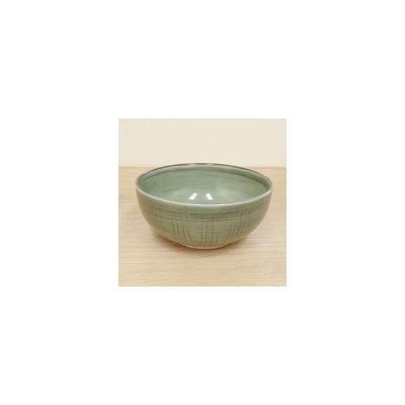 丼うどん・そば・煮物貫入春がすみ6.0丼緑鉢陶器美濃焼業務用食器