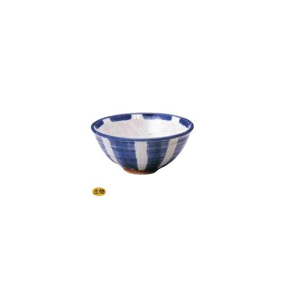 丼うどん・そば・煮物一珍紺十草6.5玉渕丼鉢陶器美濃焼業務用食器