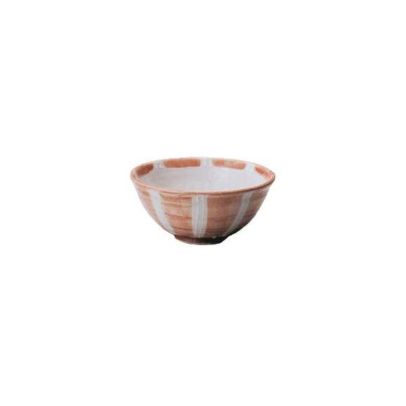 丼うどん・そば・煮物一珍赤十草6.5玉渕丼鉢陶器美濃焼業務用食器