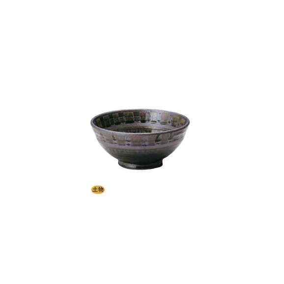 丼うどん・そば・煮物織部間取玉渕6.5丼鉢陶器美濃焼業務用食器