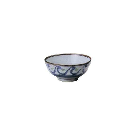 丼うどん・そば・煮物清海6.0玉渕丼青鉢陶器美濃焼業務用食器