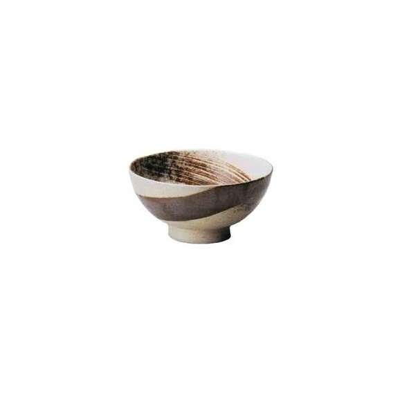 丼うどん・そば・煮物志野サビ刷毛6.5麺丼茶鉢陶器美濃焼業務用食器