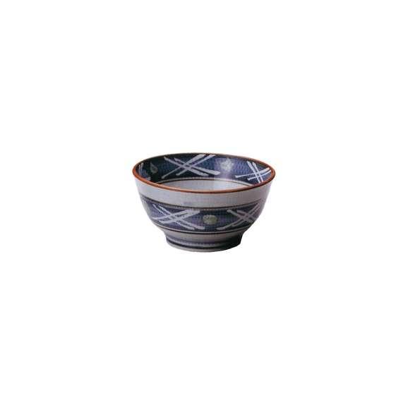丼うどん・そば・煮物呉須巻格子5.5多用丼青どんぶり鉢陶器美濃焼業務用食器