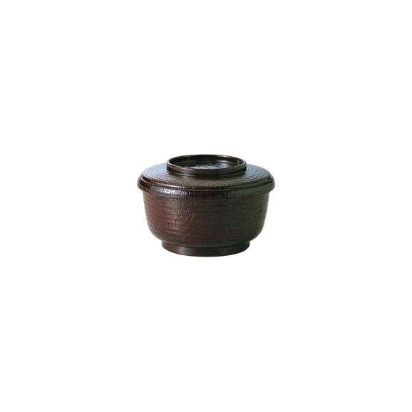 飯器耐熱ケヤキ割子ウルミ塗(内黒)