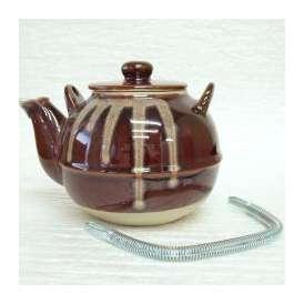 土瓶 薬土瓶 鈴型 5号 あめ釉 美濃焼 和食器 業務用食器