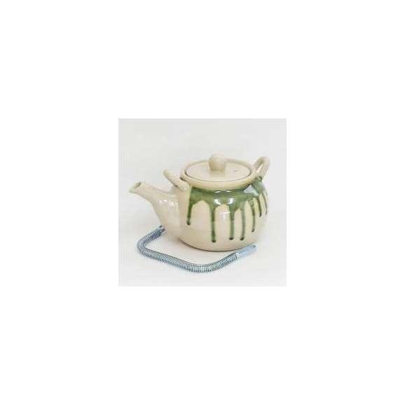 土瓶薬土瓶8号黄織部流し美濃焼和食器業務用食器