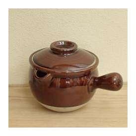 雪平片手土鍋 8号 あめ釉 美濃焼 和食器 業務用食器