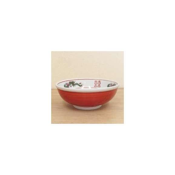 ラーメン丼赤巻三ッ竜8.0玉丼特大中華食器どんぶり美濃焼業務用食器