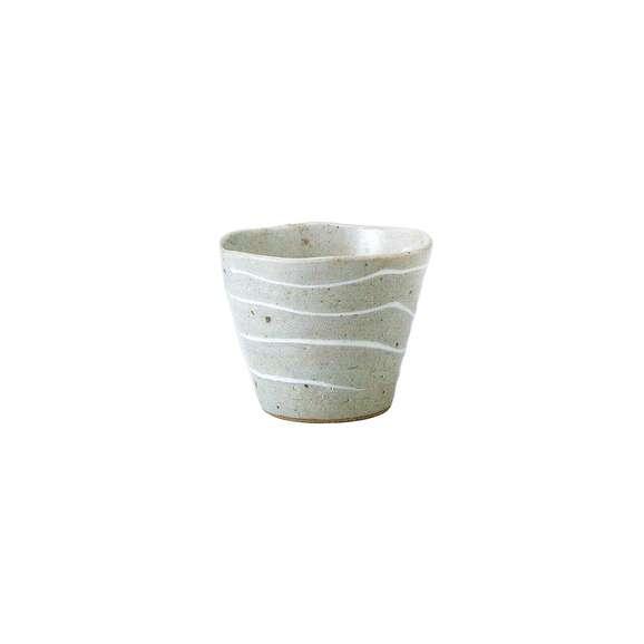 湯呑みゆったりカップ煎茶湯飲み一珍白渦和食器美濃焼