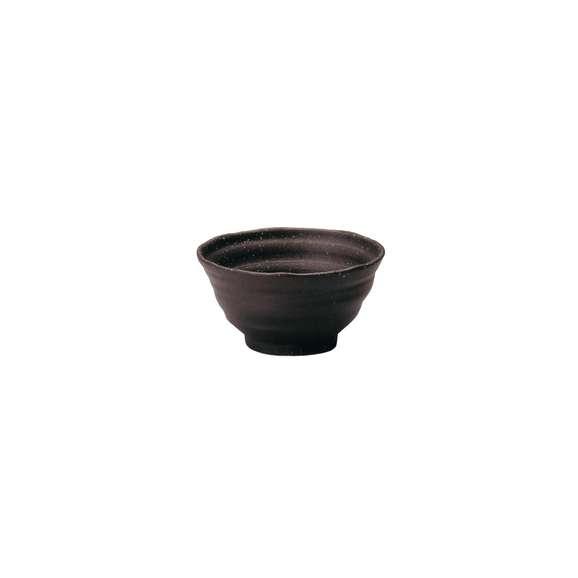丼うどん・そば・煮物黒伊賀風鳴門5.0丼鉢陶器美濃焼業務用食器