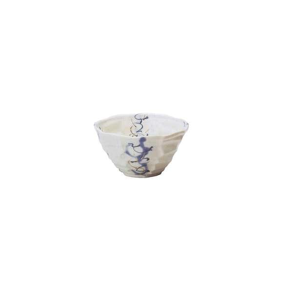 丼うどん・そば・煮物粉引金ダミぼかし八角丼白鉢陶器美濃焼業務用食器