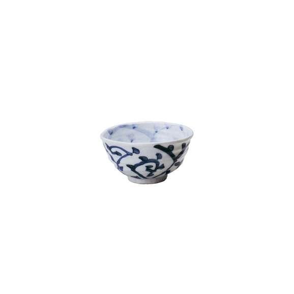 丼うどん・そば・煮物タコ唐草変型小丼白鉢陶器美濃焼業務用食器