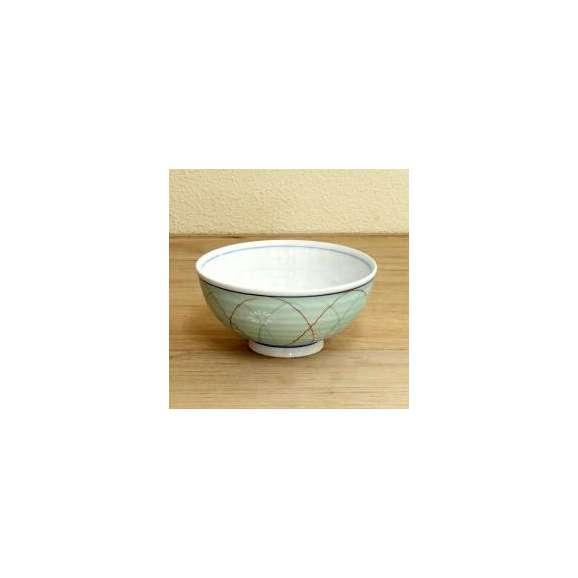 ご飯茶碗緑銀彩武蔵野業務用食器美濃焼