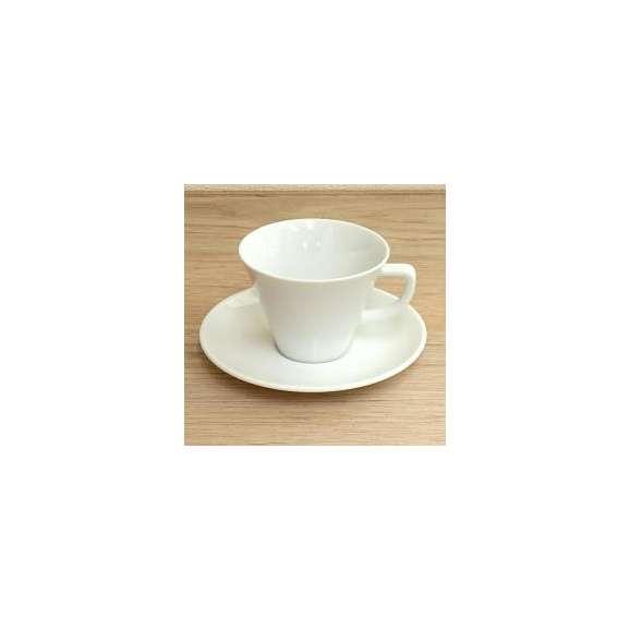 コーヒーカップ&ソーサー白磁スプラウトコーヒーカップ/ソーサー洋食器業務用食器