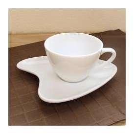コーヒーカップ&ソーサー 白磁 モンターニュコーヒーカップ/クラウドソーサー 洋食器 業務用食器