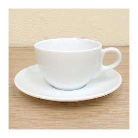 コーヒーカップ&ソーサー 白磁 パーチェカプチーノカップ/ソーサー 洋食器 業務用食器