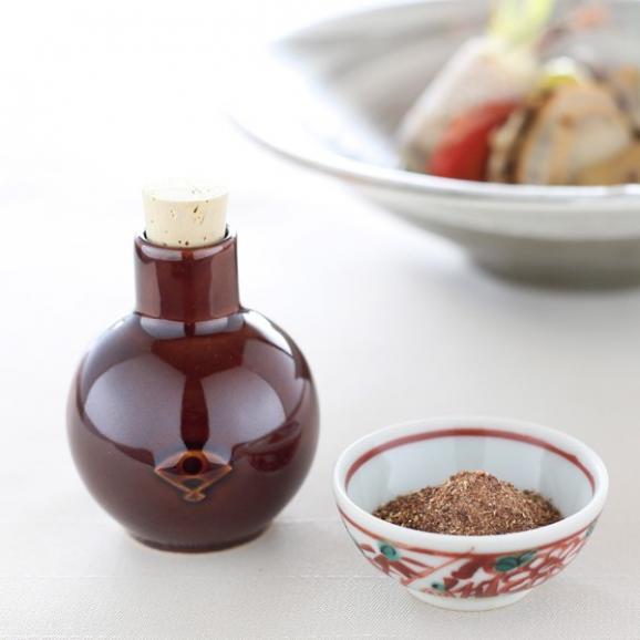 料亭の粉しょうゆギフト(3袋+陶器)02