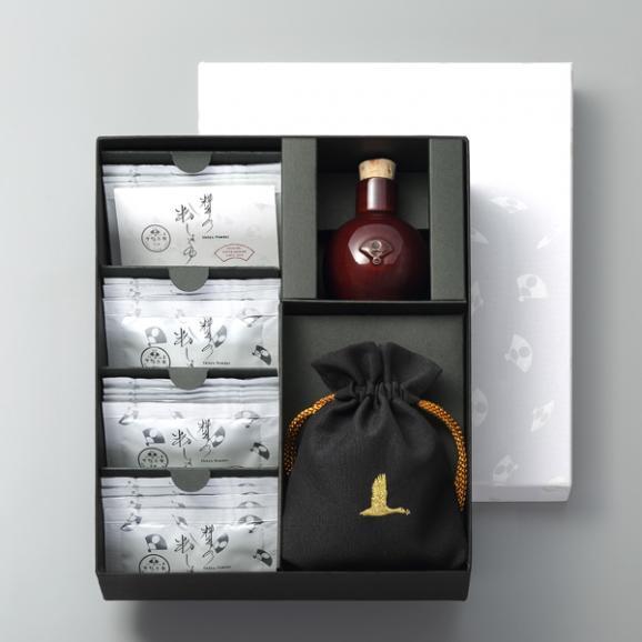 料亭の粉しょうゆギフトボックス(2g×16袋+陶器+巾着)05