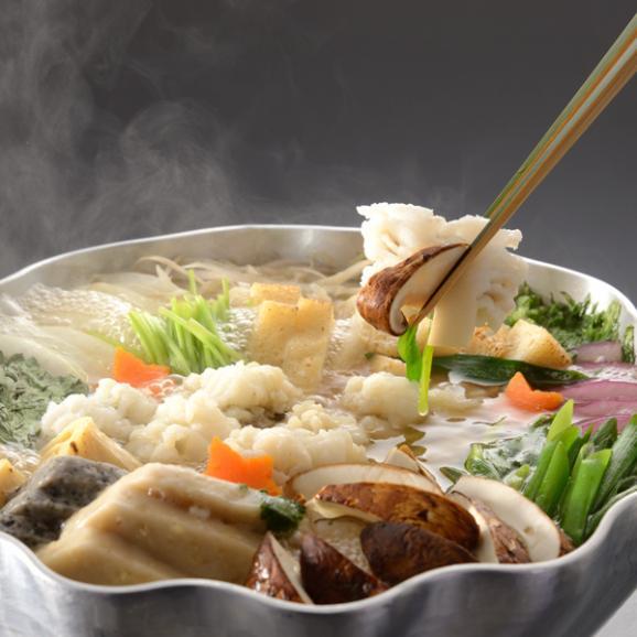 【秋季限定】料亭の鱧と松茸のはりはり鍋 03