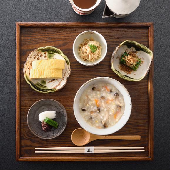 料亭の体にやさしい朝雑炊 もち麦入りしめじ玄米雑炊03