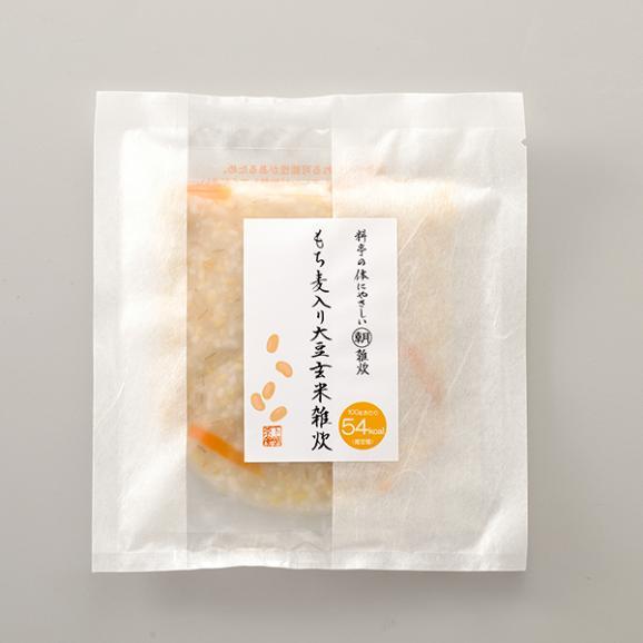 料亭の体にやさしい朝雑炊 もち麦入り大豆玄米雑炊05