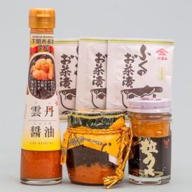 大人気の雲丹醤油を始め、うに・ふくの入った下関らしい味の詰合せです。