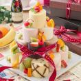 【送料無料】 9種のミニロールを自己流アレンジで楽しむ ロールケーキ タワー 9個 / 新杵堂 デコレーションケーキ 誕生日ケー