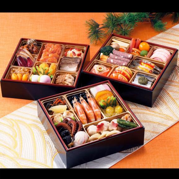 【おせち料理 2019年 宝生】東京正直屋 和洋中おせち三段重「宝生」01