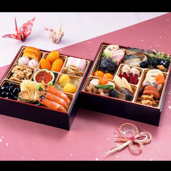 【おせち料理 2019年 寿】銀座割烹里仙 和風二段重「寿」01
