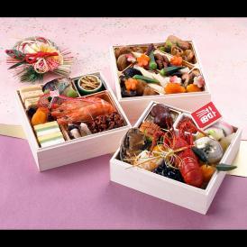 【おせち料理 2019年 福】銀座割烹里仙 和風三段重「福」