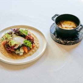 【ルカンケ】オニオングラタンスープ&スモークサーモンと野菜のガレット プレミアムミールキット 2人前 送料無料