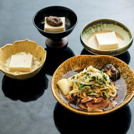 【日本料理  太月】花山椒のすき煮と三種たれの本格ごま豆腐 プレミアムミールキット 2人前 送料無料