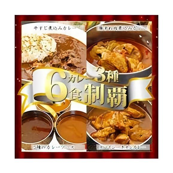 カレー3種6食 牛すじ煮込み・豚すね肉煮込み・スパイシーチキン01