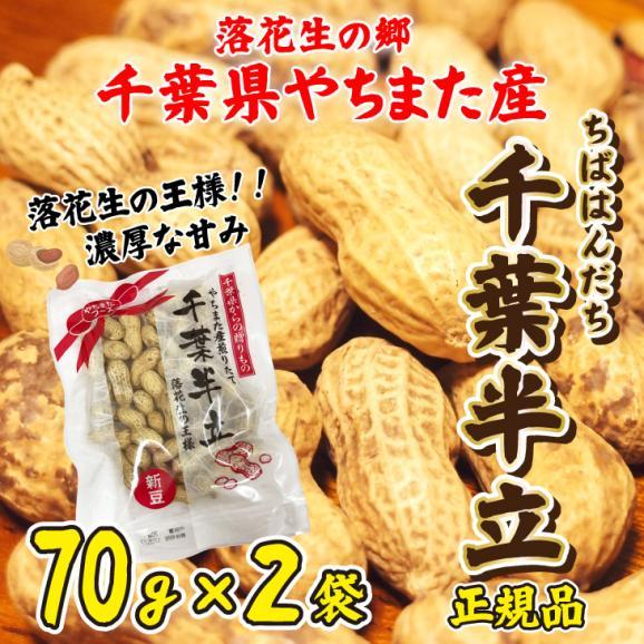 落花生 やちまた産 八街 殻付き 千葉半立 ちばはんだち 70g×2袋 正規品 ピーナッツ 全国送料無料01