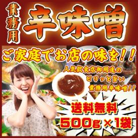 大好評にて継続販売決定!! 辛味噌 500g 1パック 調味料 お試し 送料無料 メール便